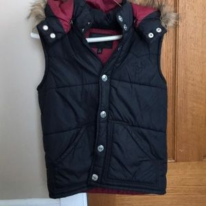 True Religion Womens puffer vest with hood